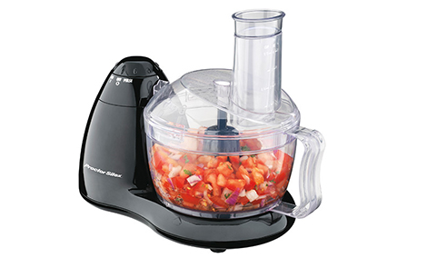 8 Cup Food Processor-70452A. This space-saving design features in-bowl storage and stainless steel chopping blade & slicing/shredding disc.