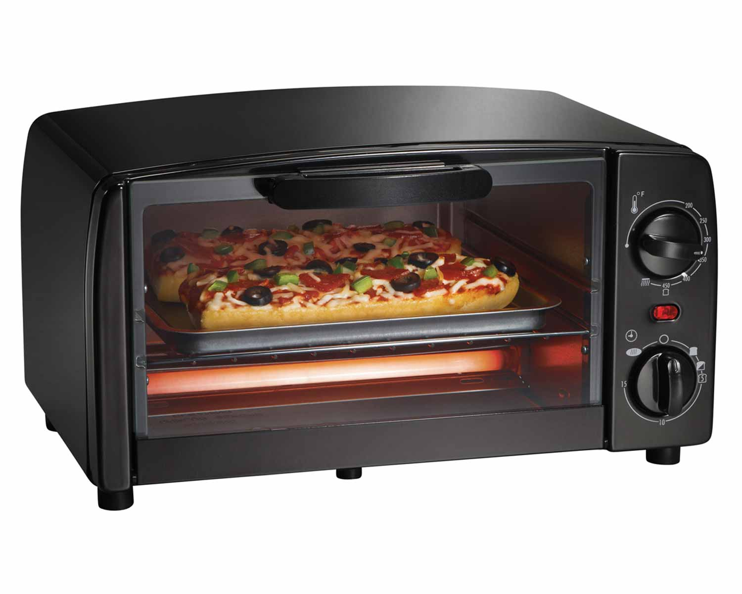 Toaster Oven Broiler (black)-31118R Small Size