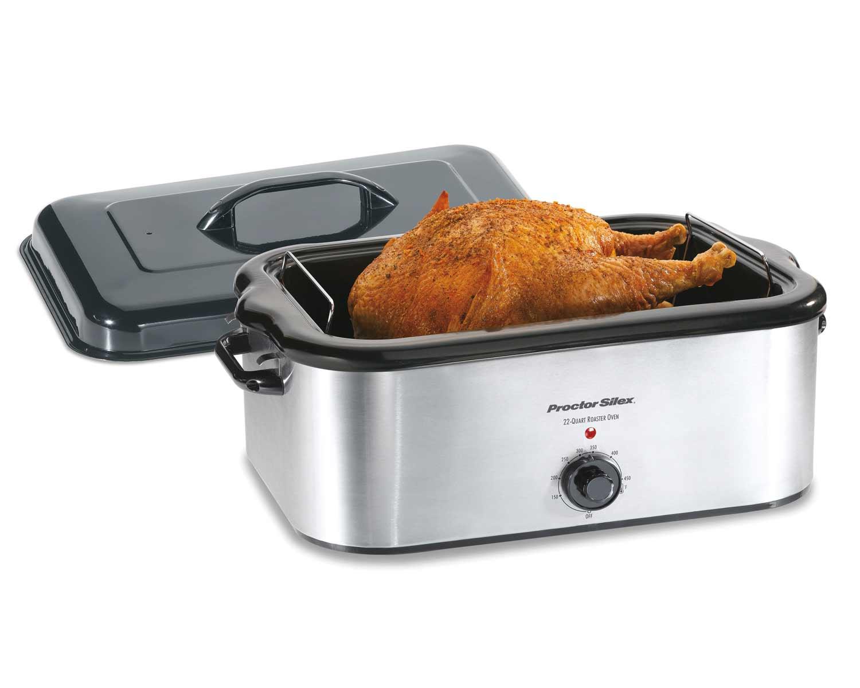 Stainless Steel 22 Quart Roaster Oven
