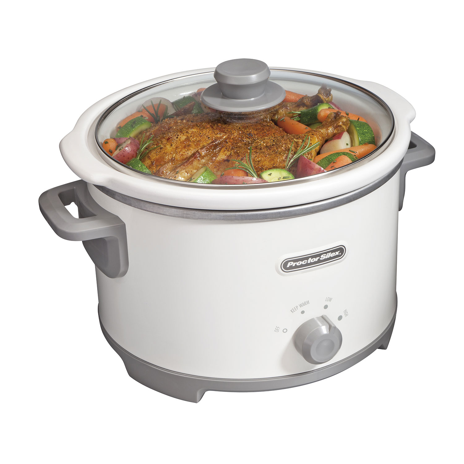 4 Quart Slow Cooker (white)