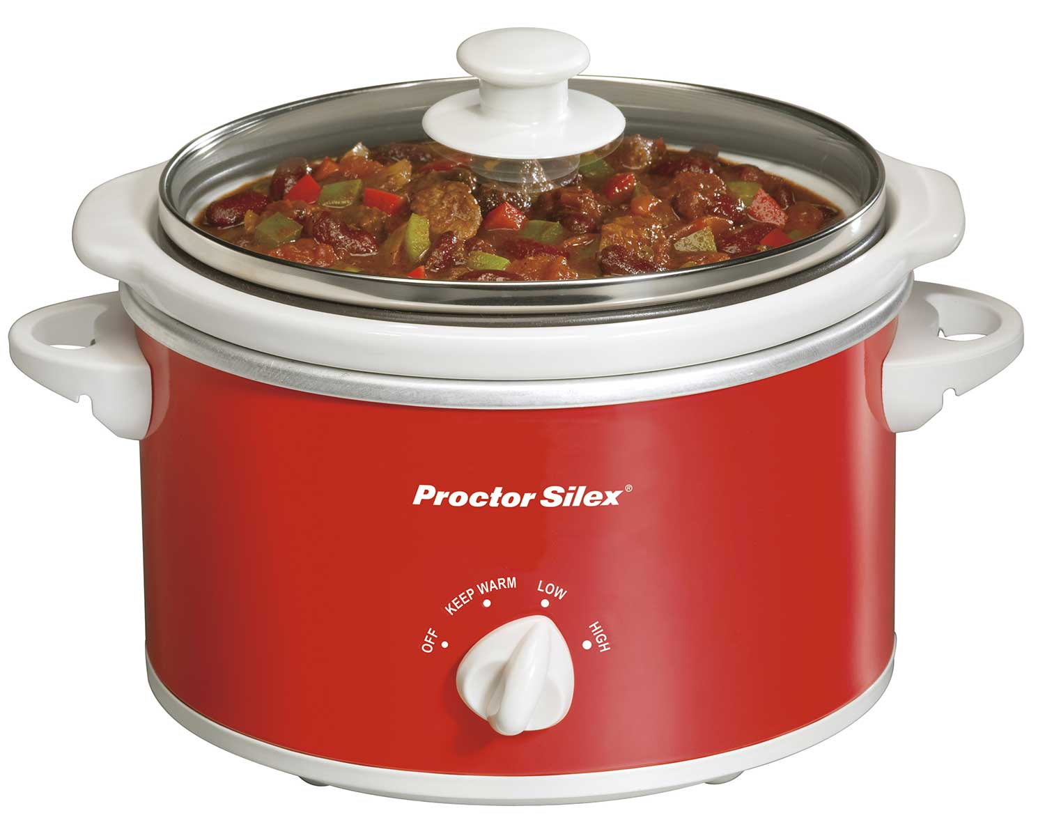 Portable 1.5 Quart Slow Cooker (red)-33111Y