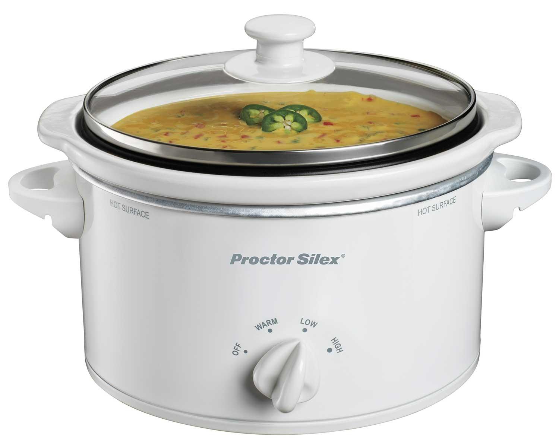 Portable 1.5 Quart Slow Cooker (white)