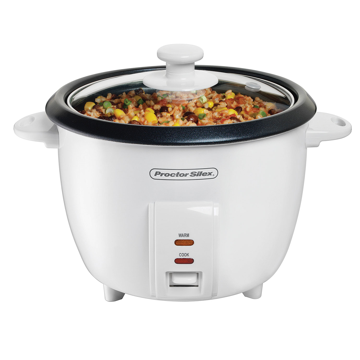 10 Cup Capacity (Cooked) Rice Cooker with Steam Basket-37533NR