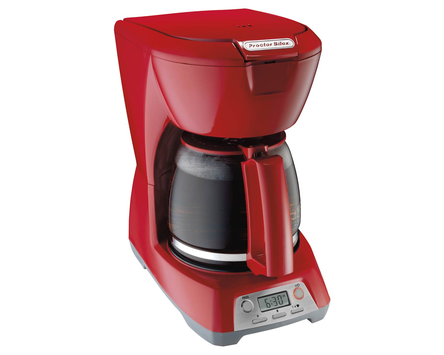 Programmable 12 Cup Coffee Maker (red)-43673
