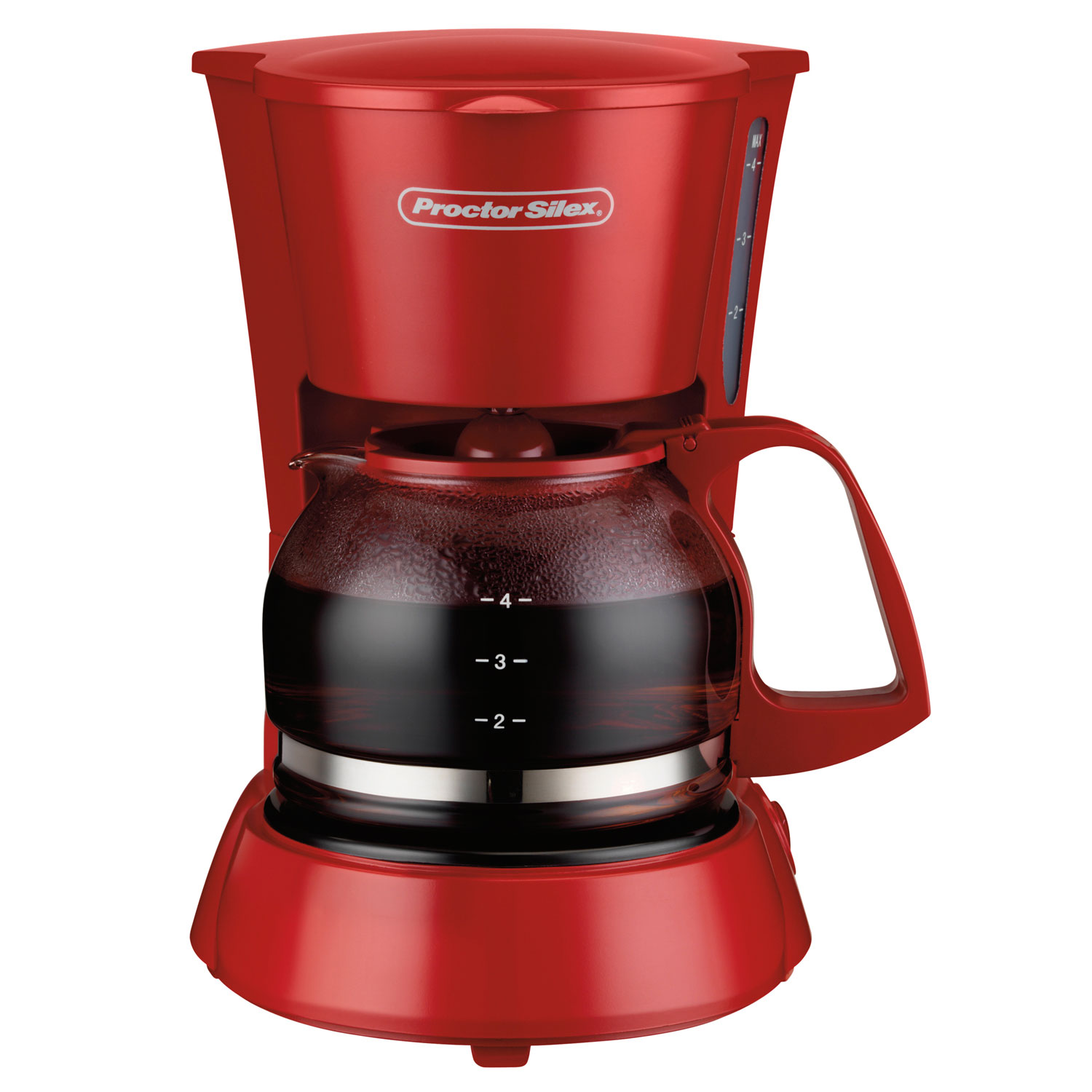 4 Cup Coffee Maker Red Model 48133 Proctor Silex