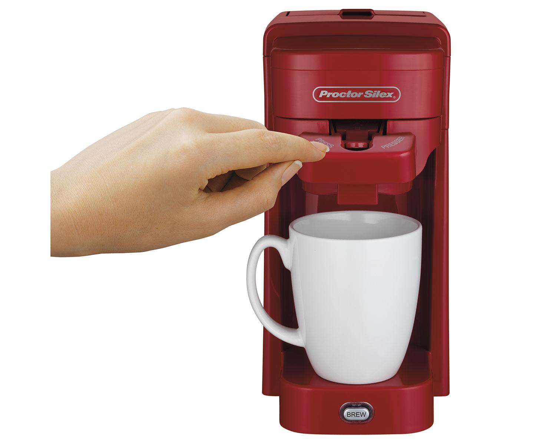 Single-Serve Coffee Maker (red)- Model 49964 - Proctor Silex