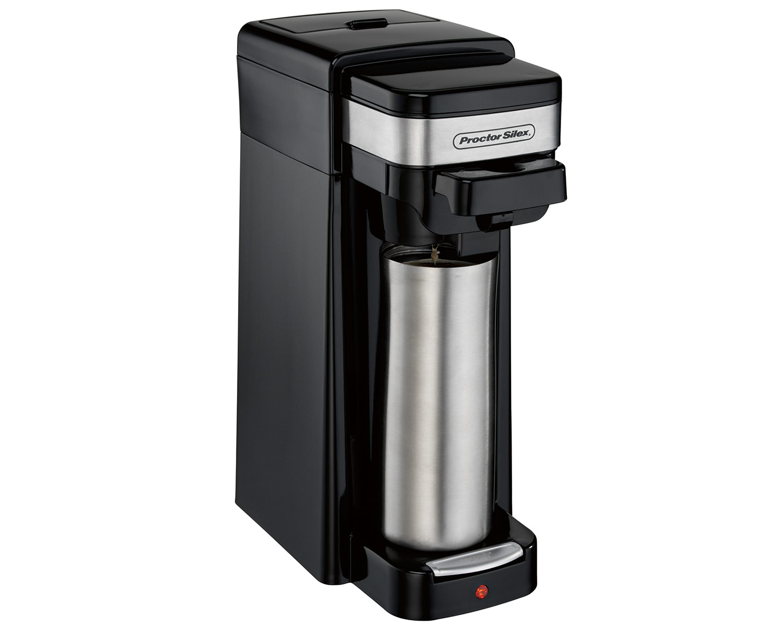 1 Cup Coffee Maker Using Ground Coffee : Single-Serve Coffee Maker (black)-49969 - Proctor Silex