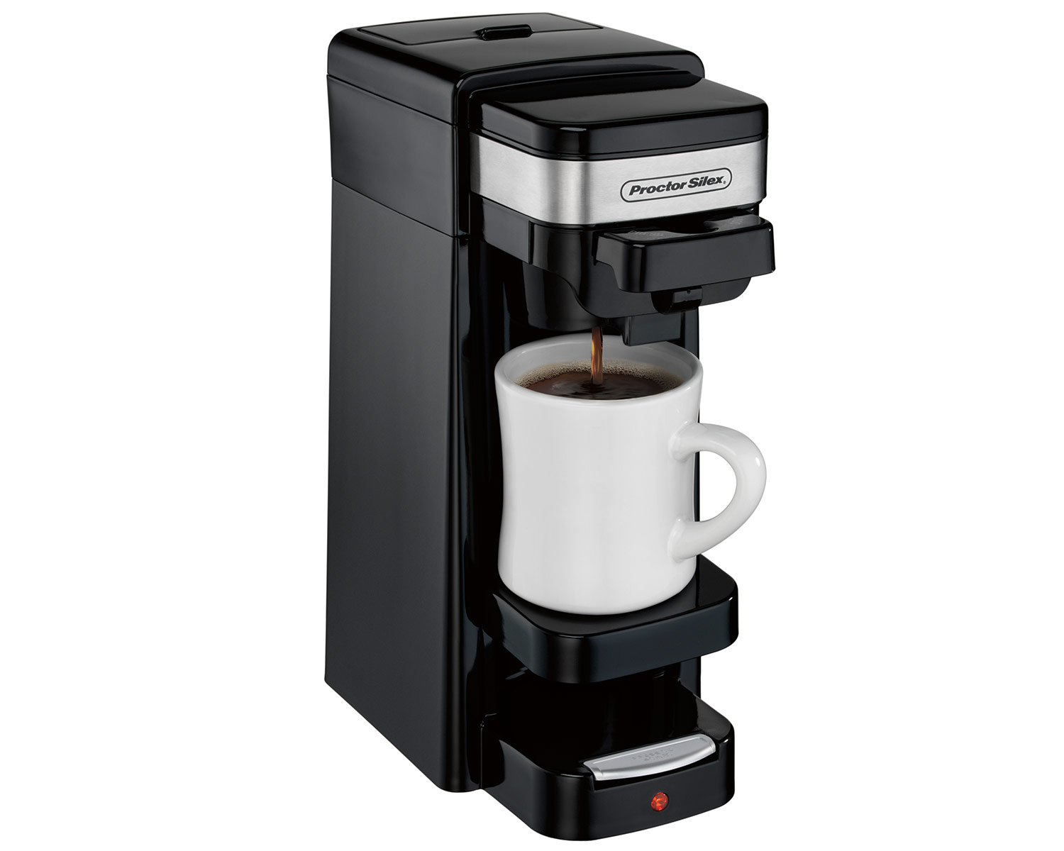 single cup coffee makers single serve coffee maker black 49969 proctorsilex 12254