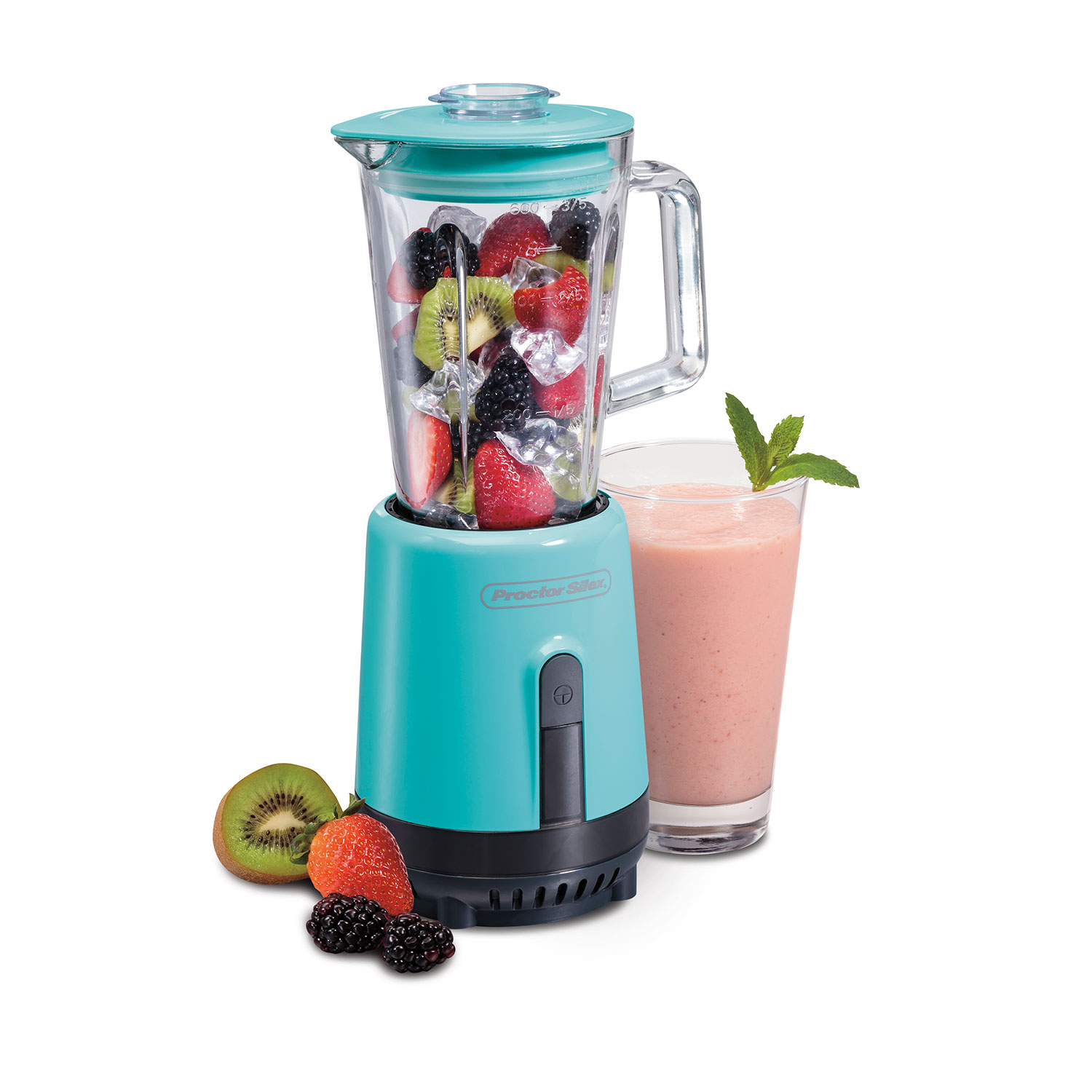 Glass Compact Blender (teal)