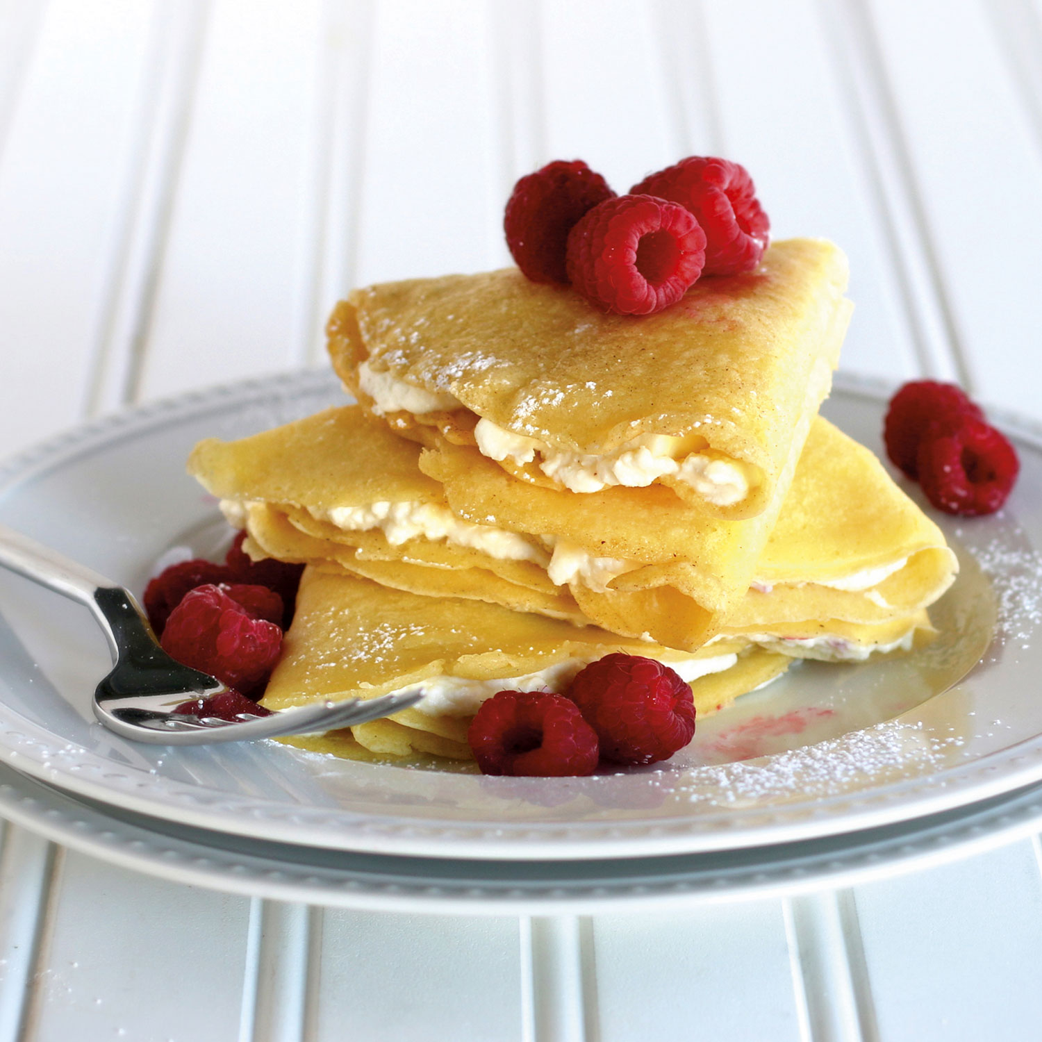 Raspberry Ricotta Crepes - 1
