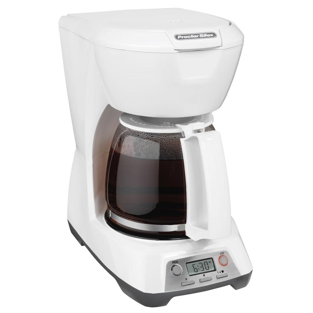 Programmable 12 Cup Coffee Maker (white)-43671