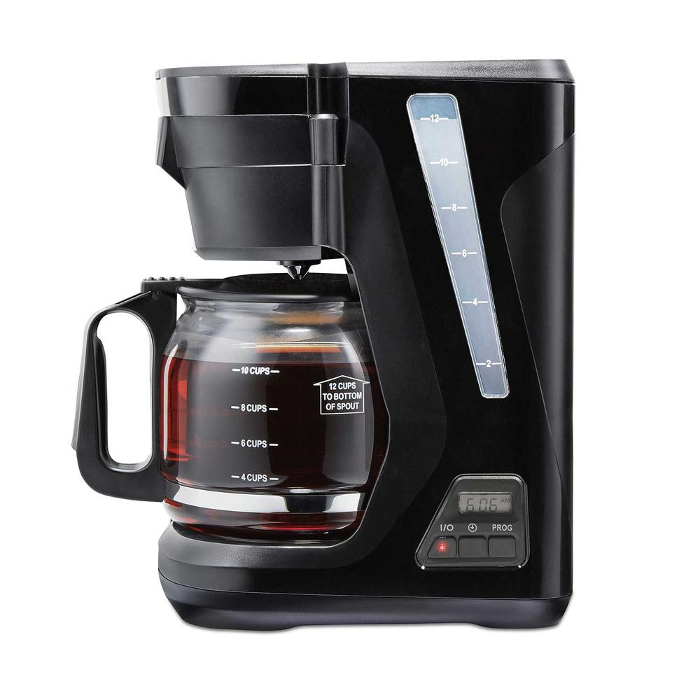 Compact Programmable Coffee Maker (black) - 43685PS